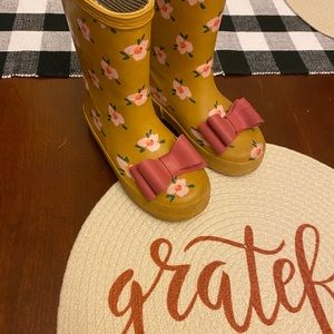 sweet honey toddler rain boots size 10
